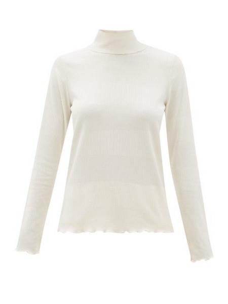 A.P.C. A.p.c. - Angele Roll Neck Stripe Jacquard Sweater - Womens - Ivory