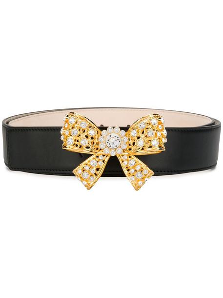 Versace bow embellished belt - Black