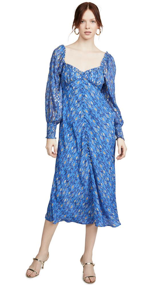 RIXO Miriam Dress in blue