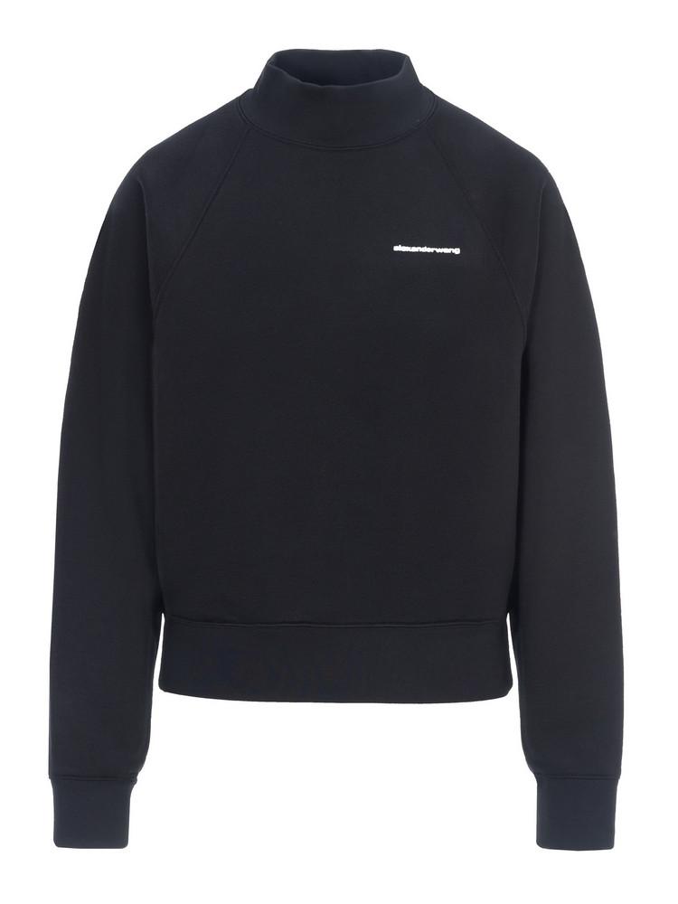 T By Alexander Wang T By Alexander Wang High Neck Sweatshirt in black