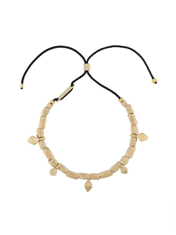 Isabel Marant charm detail drawstring bracelet in black