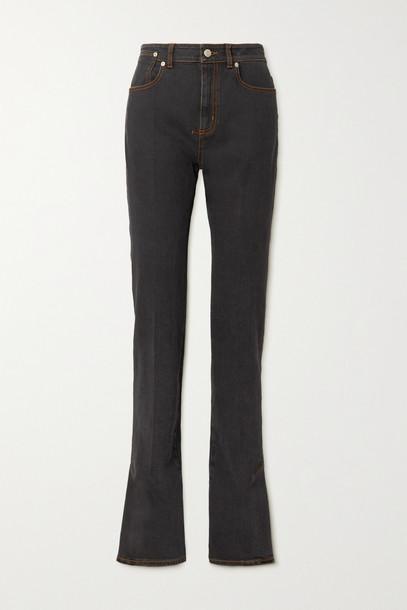 Alexander McQueen - High-rise Flared Jeans - Blue