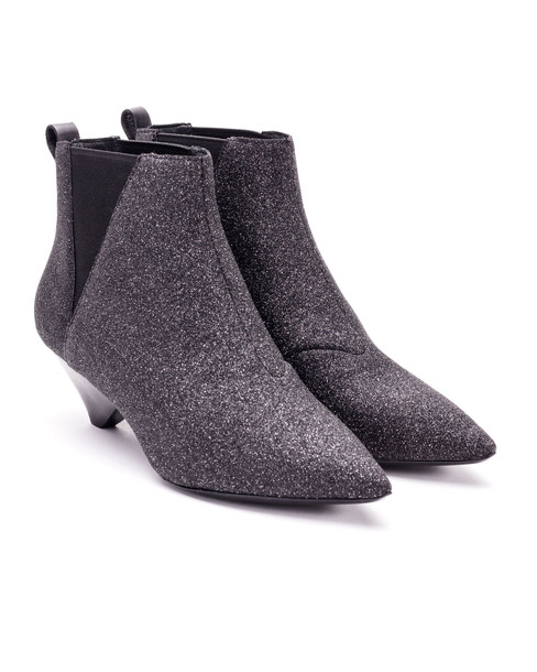 Ash Ash Glitter Ankle Boots in black / silver