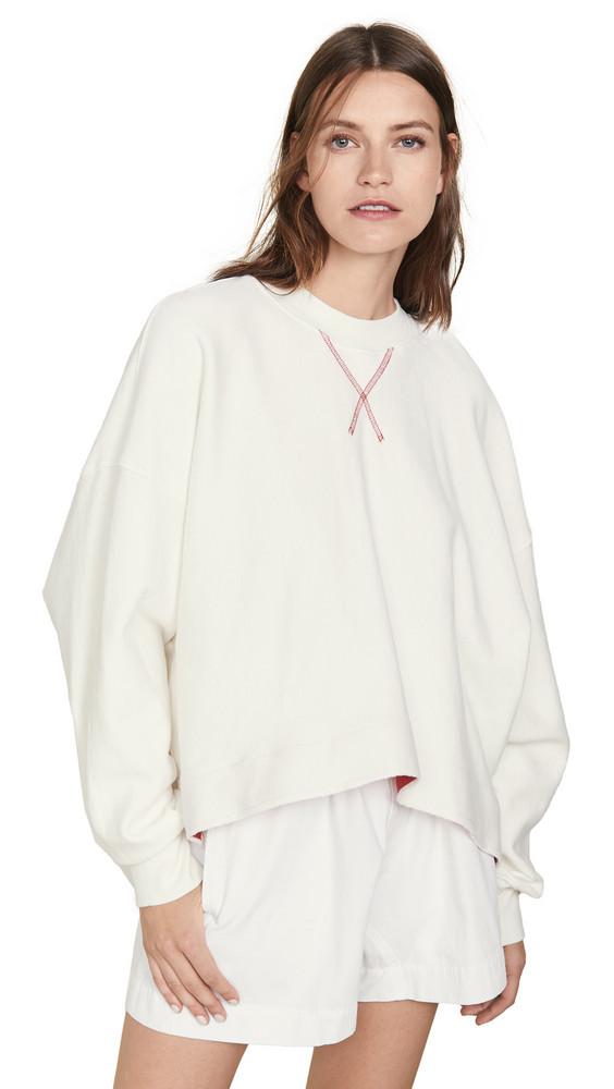 Bassike Side Split Sweatshirt in ivory