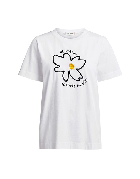 Chinti And Parker Forget Me Not T-Shirt White