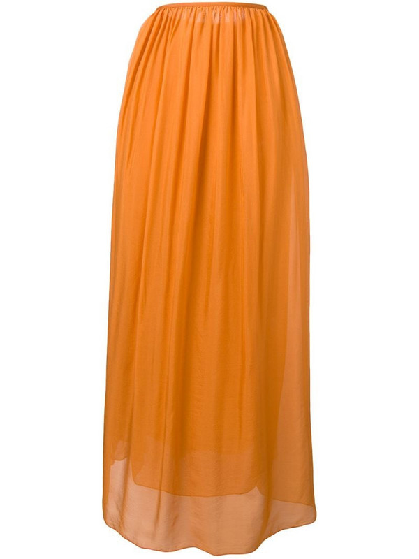 Forte Forte pleated front skirt in orange