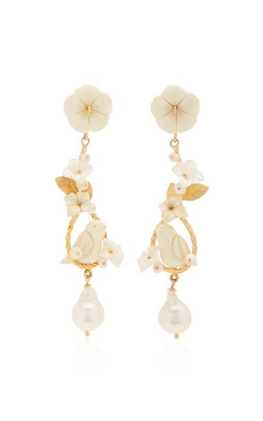 Of Rare Origin Starling Earrings in white