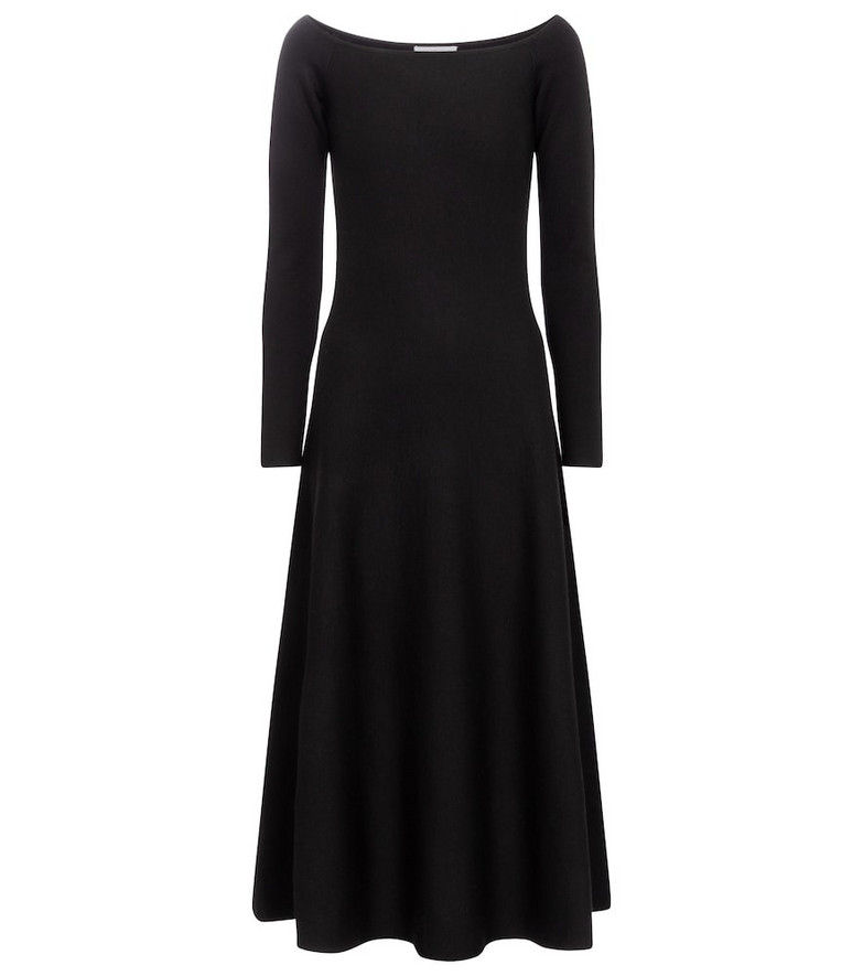 Gabriela Hearst Gurshka wool and cashmere midi dress in black
