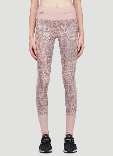 adidas by Stella McCartney Snake Print Leggings in Pink size XS