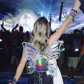 bag,butterfly,backpack,kawaii,holographic,rave,pastel goth