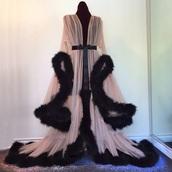 dress,hollywood,scarlett,feathers,ostrich,chiffon,dressing gown,elegant,fluffy,gown,homewear,robe,faux fur,nightwear,coat,lingerie,pajamas,burgundy,long,beige,pink,black,princess,kim kardashian,cute,cardigan,sexy,pink lingerie,underwear,fur,silk,flow,flowey,gorgeous,twitter,tumblr,instagram,sweater,fancy,fancy robe,black feathers,floor length,sheer,sheer lingerie,sexy sheer robe,satin