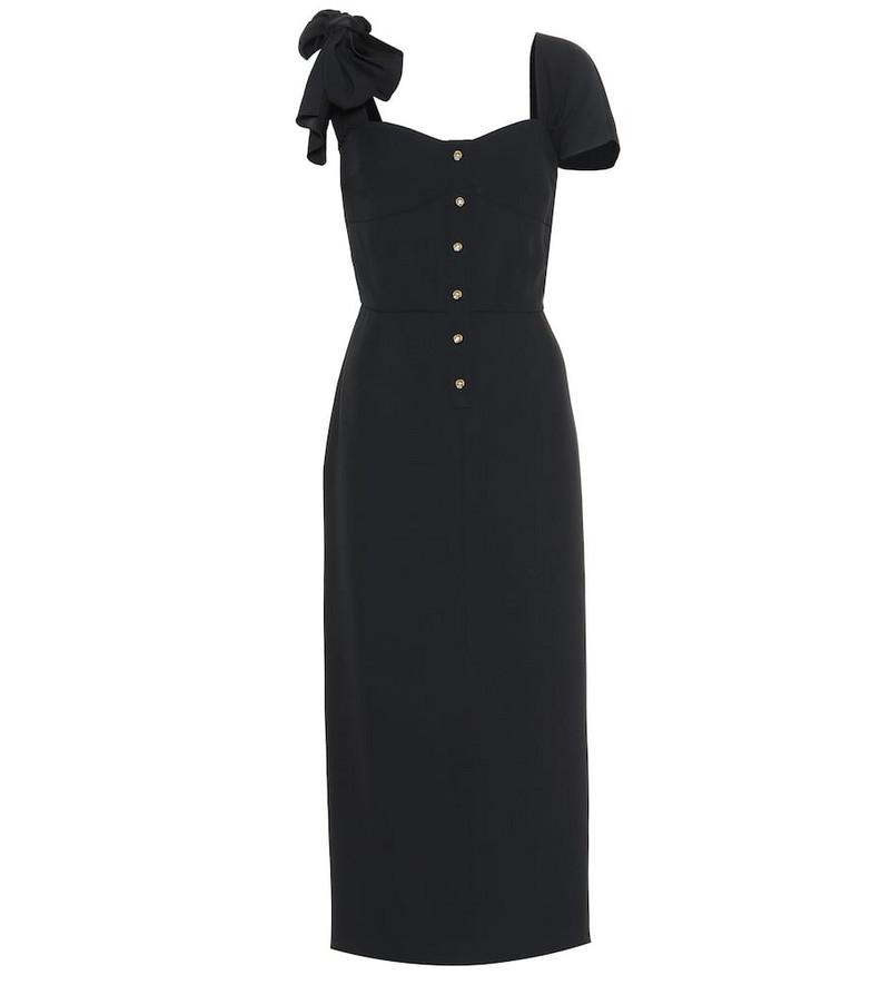 Prada Sablé midi dress in black