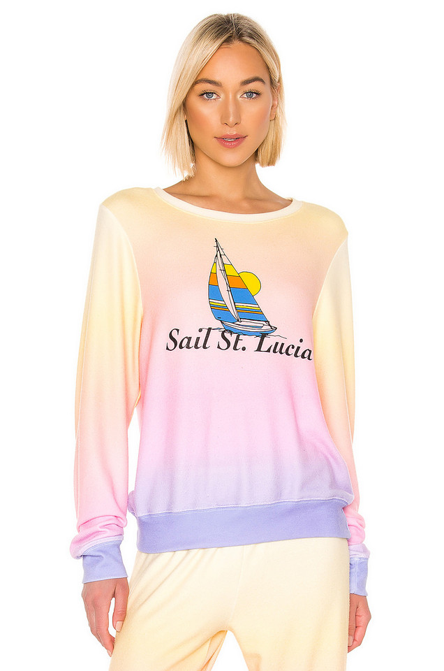 Wildfox Couture Sail St. Lucia Baggy Beach Jumper in pink