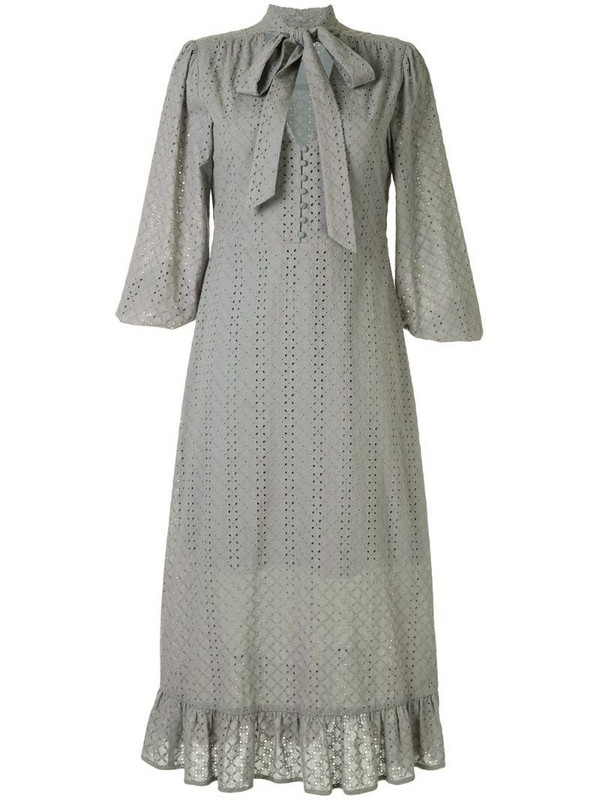 We Are Kindred Bronwyn embroidered midi dress in green