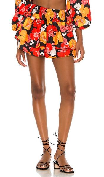 Agua Bendita X REVOLVE Teresa Skirt in Orange,Red in black