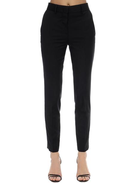 MSGM Cool Virgin Wool Straight Pants in black