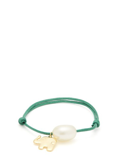Aurélie Bidermann - Grigri Gold Plated Elephant Bracelet - Womens - Green