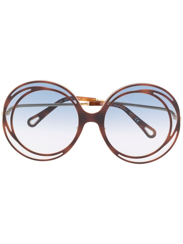 Chloé Eyewear Carlina oversized round sunglasses in blue