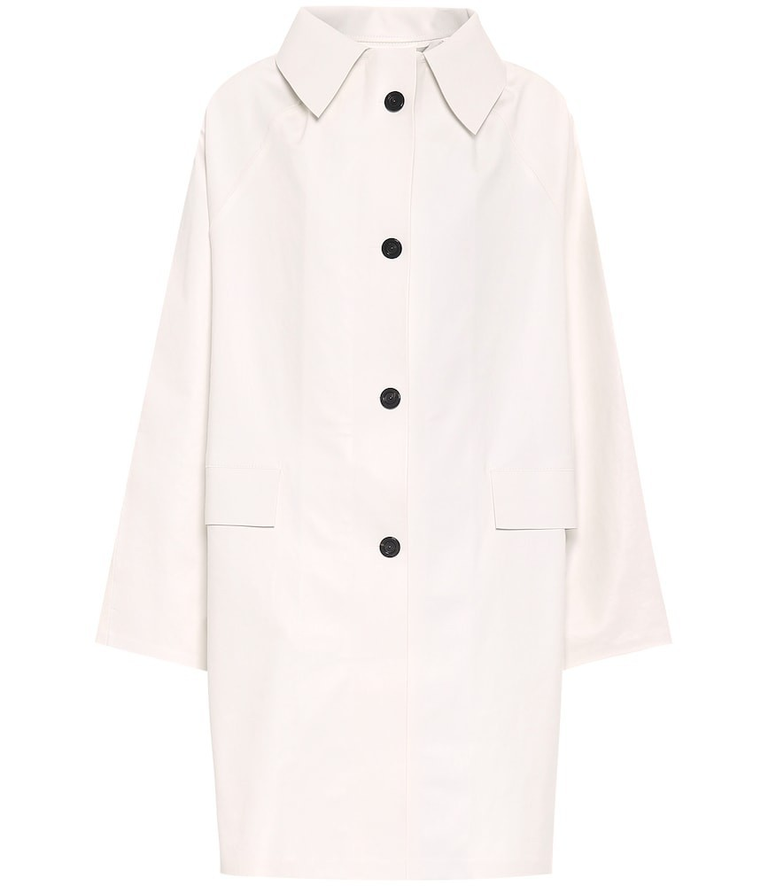 KASSL Editions Coated cotton coat in white