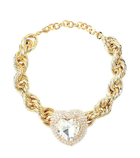 Alessandra Rich Crystal-embellished choker in gold