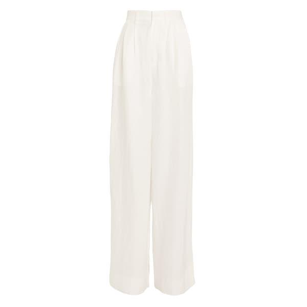 Anine Bing Carla Linen-Blend Trousers