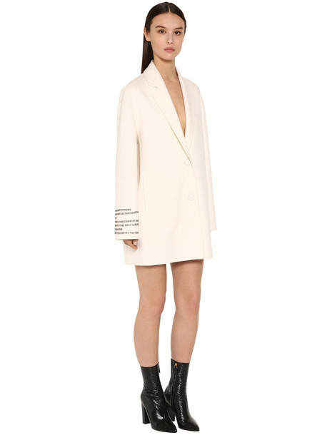VALENTINO Embroidered Compact Short Coat in ivory