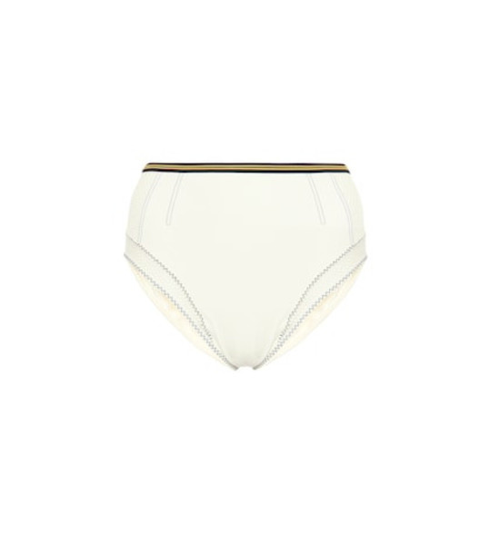 Stella McCartney High-rise bikini bottoms in white
