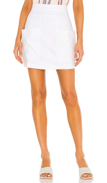 IORANE Compact Pockets Mini Skirt in White