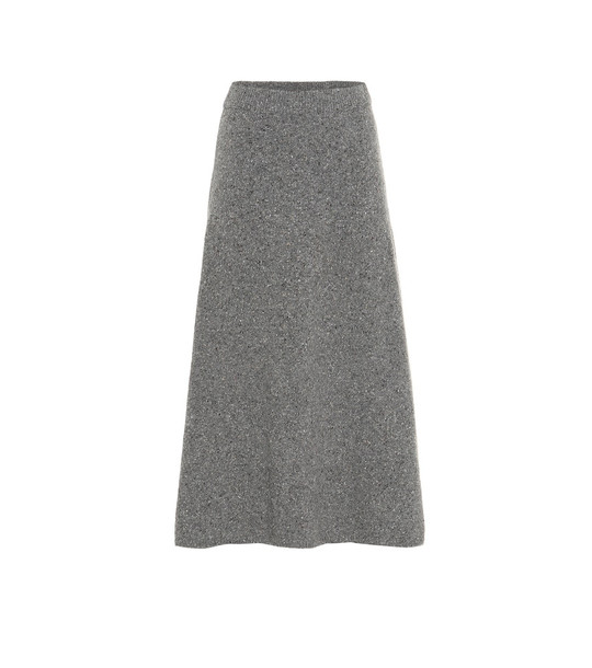 Joseph Wool midi skirt in grey