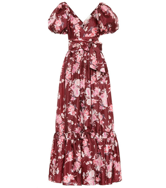 LoveShackFancy Ida floral gown in red