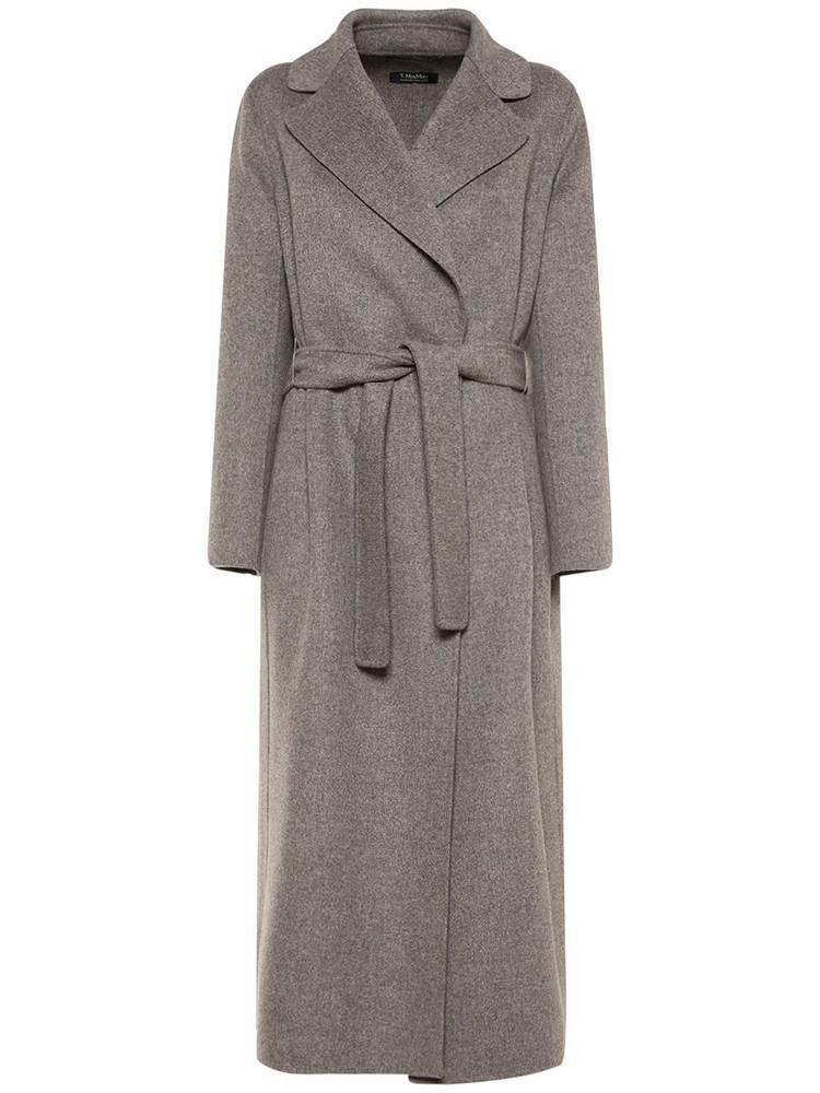 'S MAX MARA Poldo Belted Wool Coat in grey