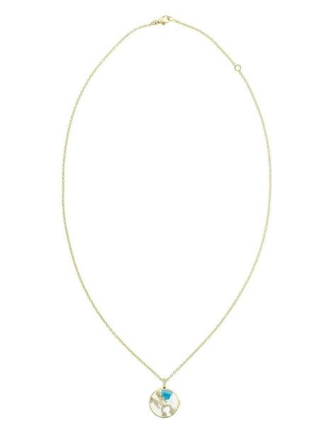 Moritz Glik 18kt yellow gold M C initial diamond shaker necklace