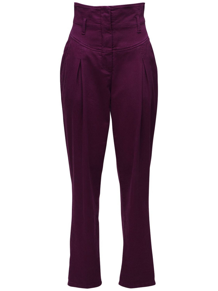 ALBERTA FERRETTI High Waist Stretch Cotton Denim Jeans in purple