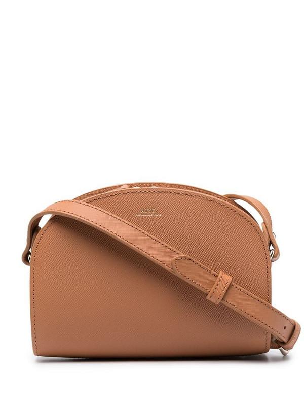 A.P.C. mini Sac Demi-Lune shoulder bag in brown