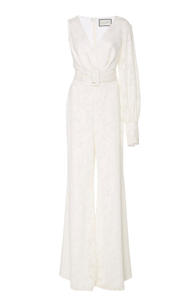 Alexis Berezzi Embroidered Jumpsuit in white