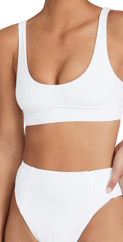 Vitamin A Sienna Tank Bikini Top in white
