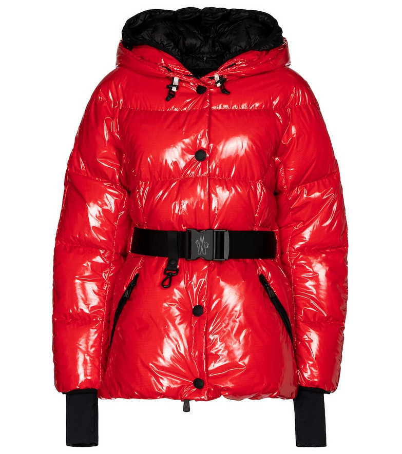 Moncler Grenoble Fenis hooded down jacket in red