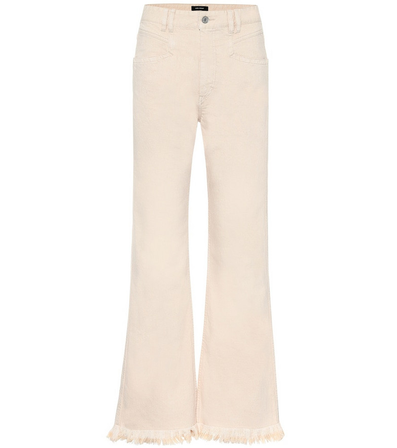 Isabel Marant Elvira high-rise wide-leg jeans in beige