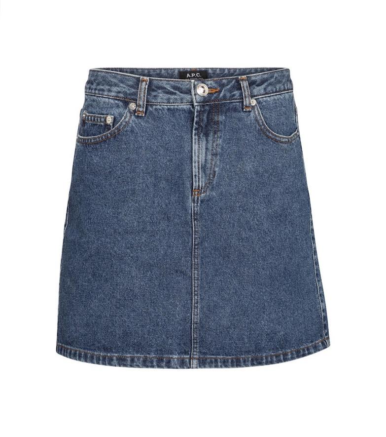 A.P.C. Denim miniskirt in blue