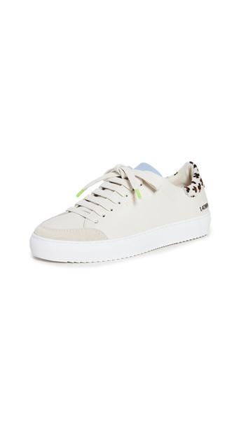 Axel Arigato Clean 90 Triple Animal Sneakers in blue / leopard