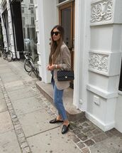 shoes,loafers,mules,cropped jeans,blazer,black bag