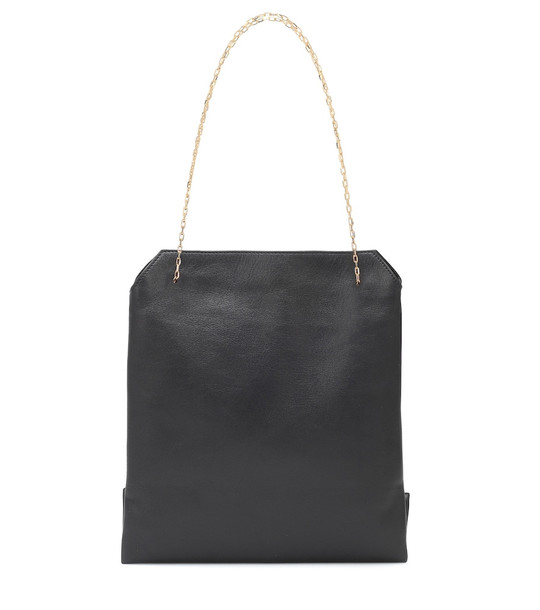 The Row Lunch Small leather shoulder bag in black