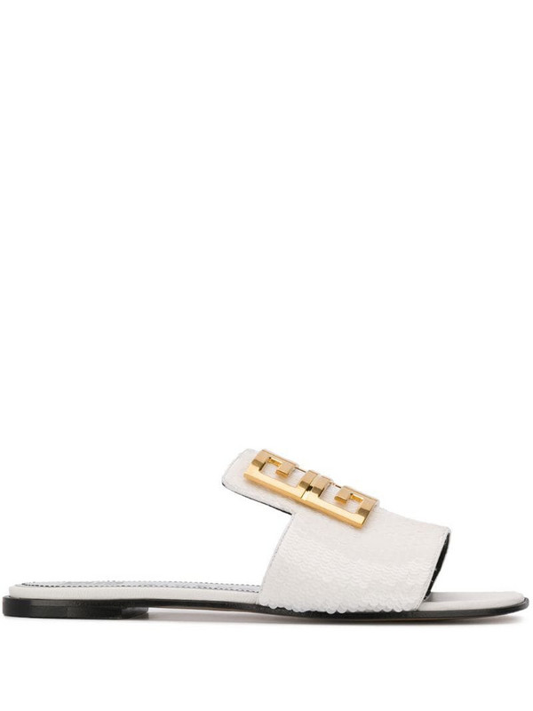 Givenchy 4G flat sandals in white
