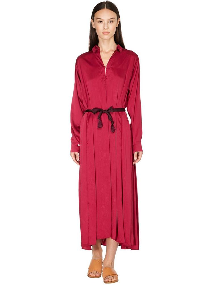 FORTE FORTE Crash Shirt Dress in red