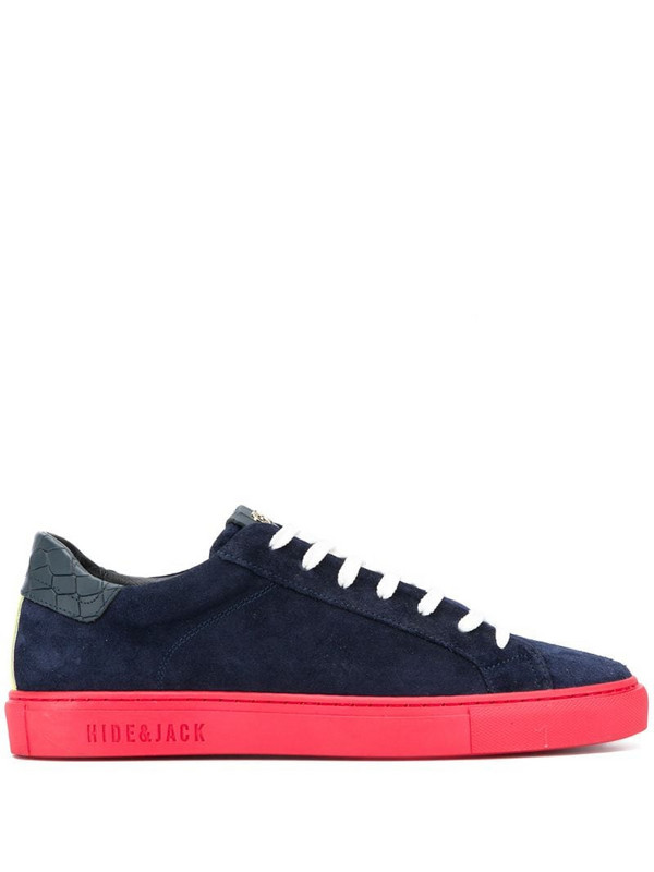 Hide&Jack crocodile-patch low-top sneakers in blue