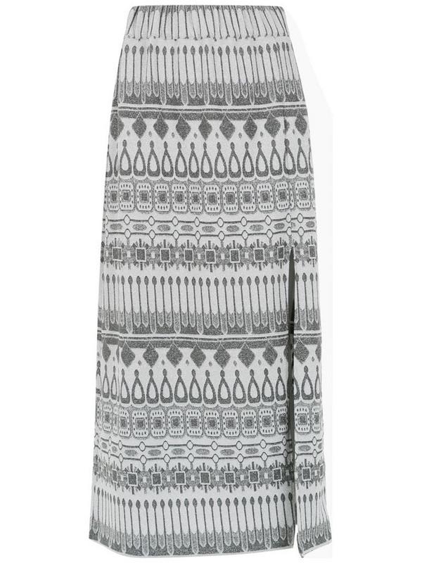 Framed Gipsy midi skirt in grey