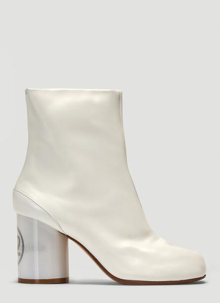 Maison Margiela Hologram Heel Tabi Boots in White size EU - 39