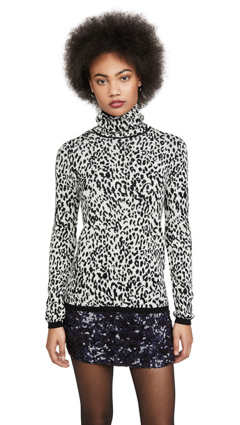 Victor Glemaud Wool Turtleneck in black / white / print