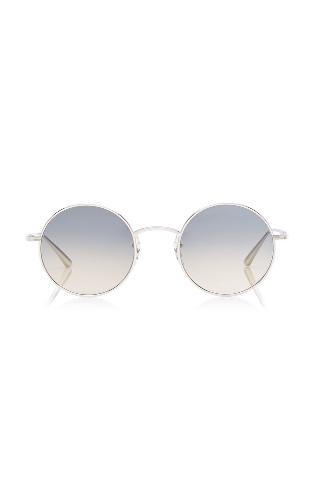 Oliver Peoples THE ROW After Midnight Round-Frame Metal Sunglasses in blue