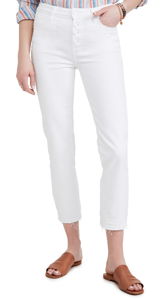 PAIGE Cindy Crop Jeans in white